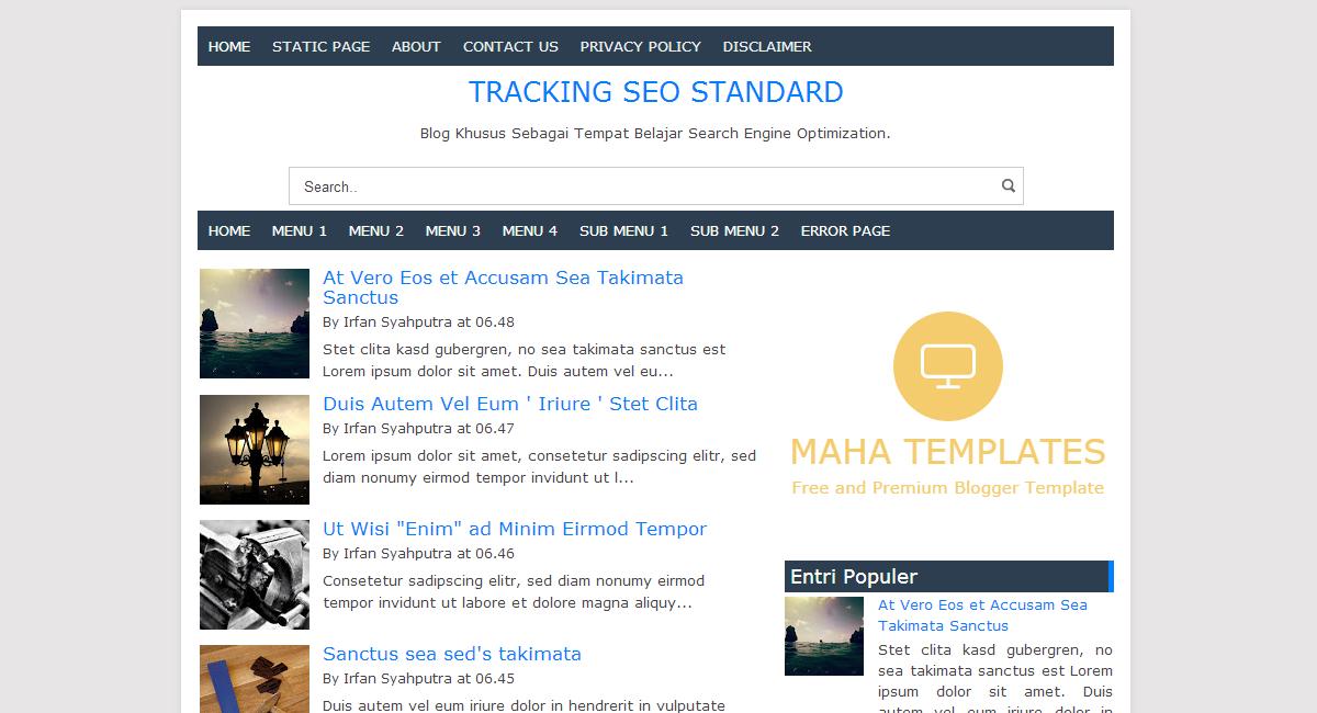 Maha Templates - SEO Blogger Template