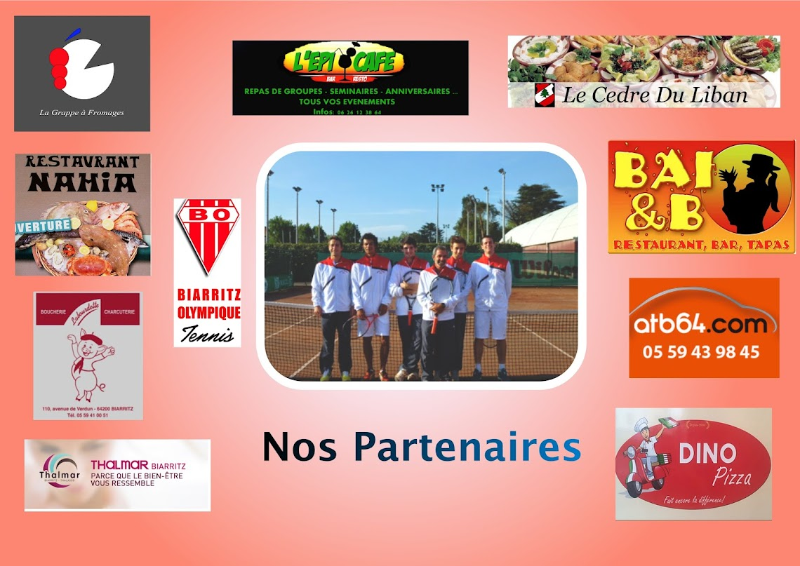 Partenaires du BO Tennis