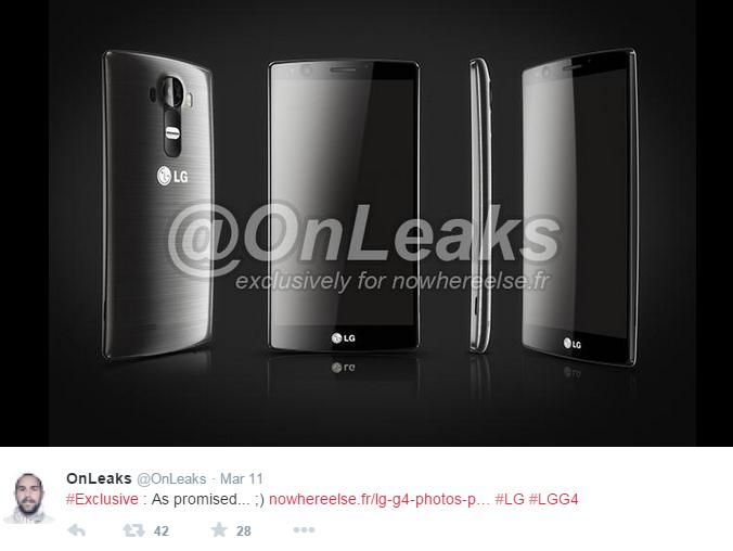 LG G4, LG 2015 Smartphone