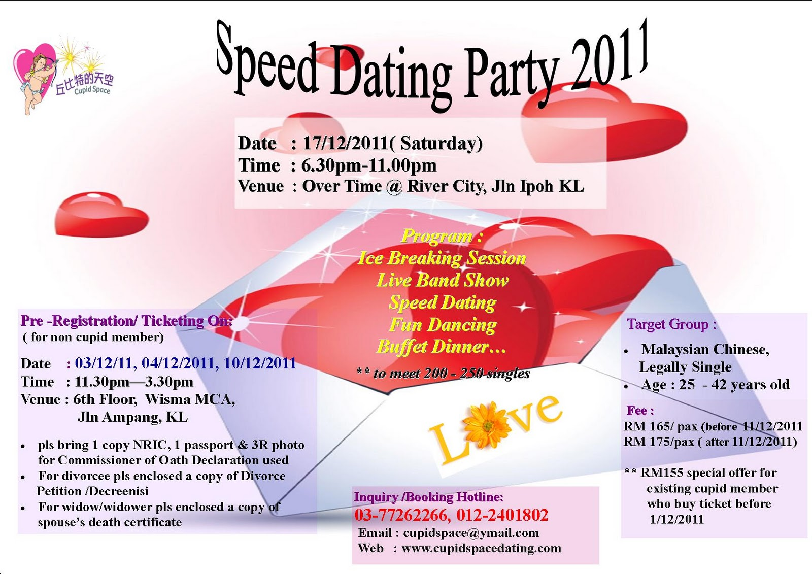 from Allen speed dating flyers