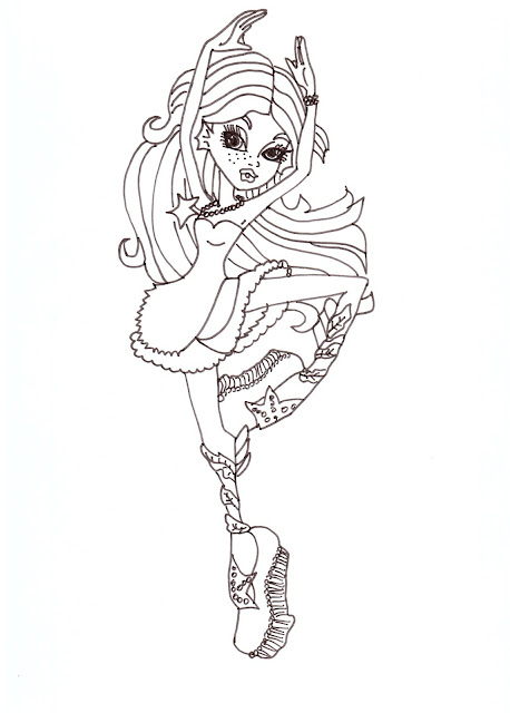 ... About Monster High Dolls: Lagoona Blue Free Printable Coloring Pages