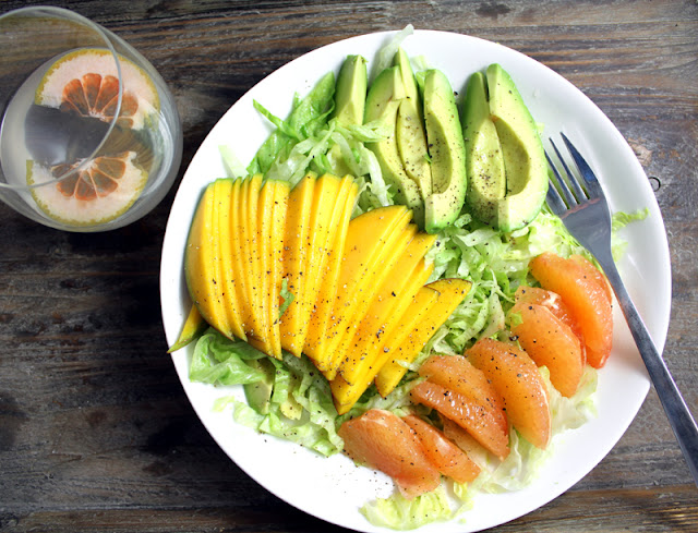 Oppskrift Vegan Sushi Rosa Grapefrukt Salat Fruktsashimi Mango Avokado Sunn Frokost Rettibollen