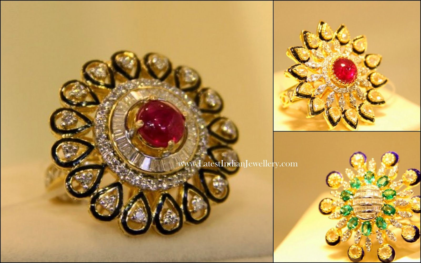 Diamond Kundan Cocktail Rings