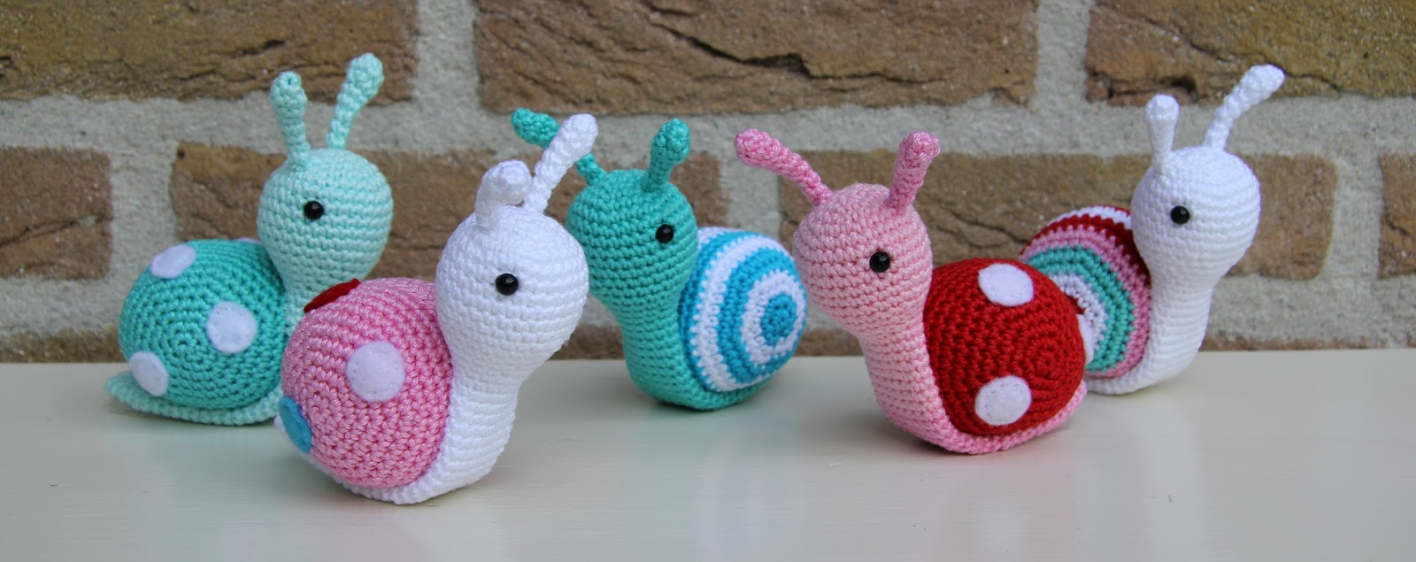 Amigurumi Tutorial Animali : Modele GRATIS-Amigurumi ESCARGOT Multicolore