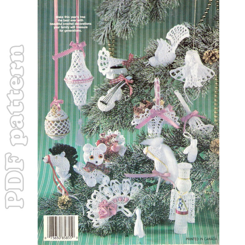 21 victorian ornaments crochet pattern pdf