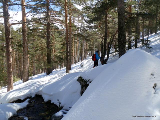 Sendero Schmid nevado