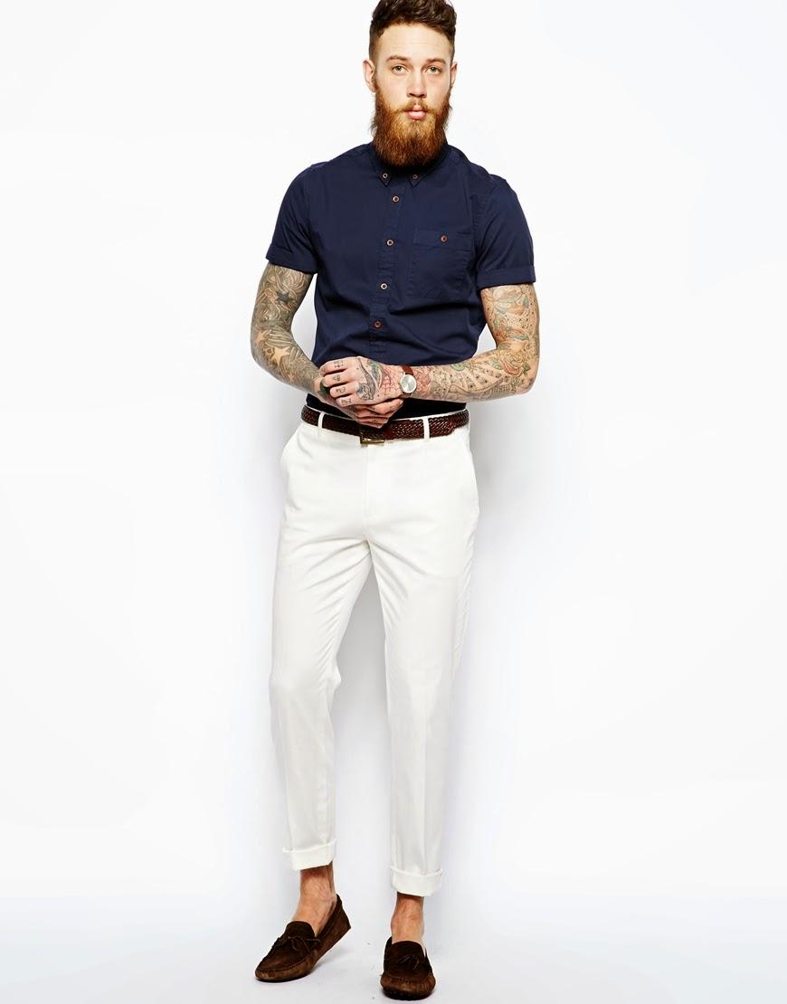 Mens White Slim Jeans