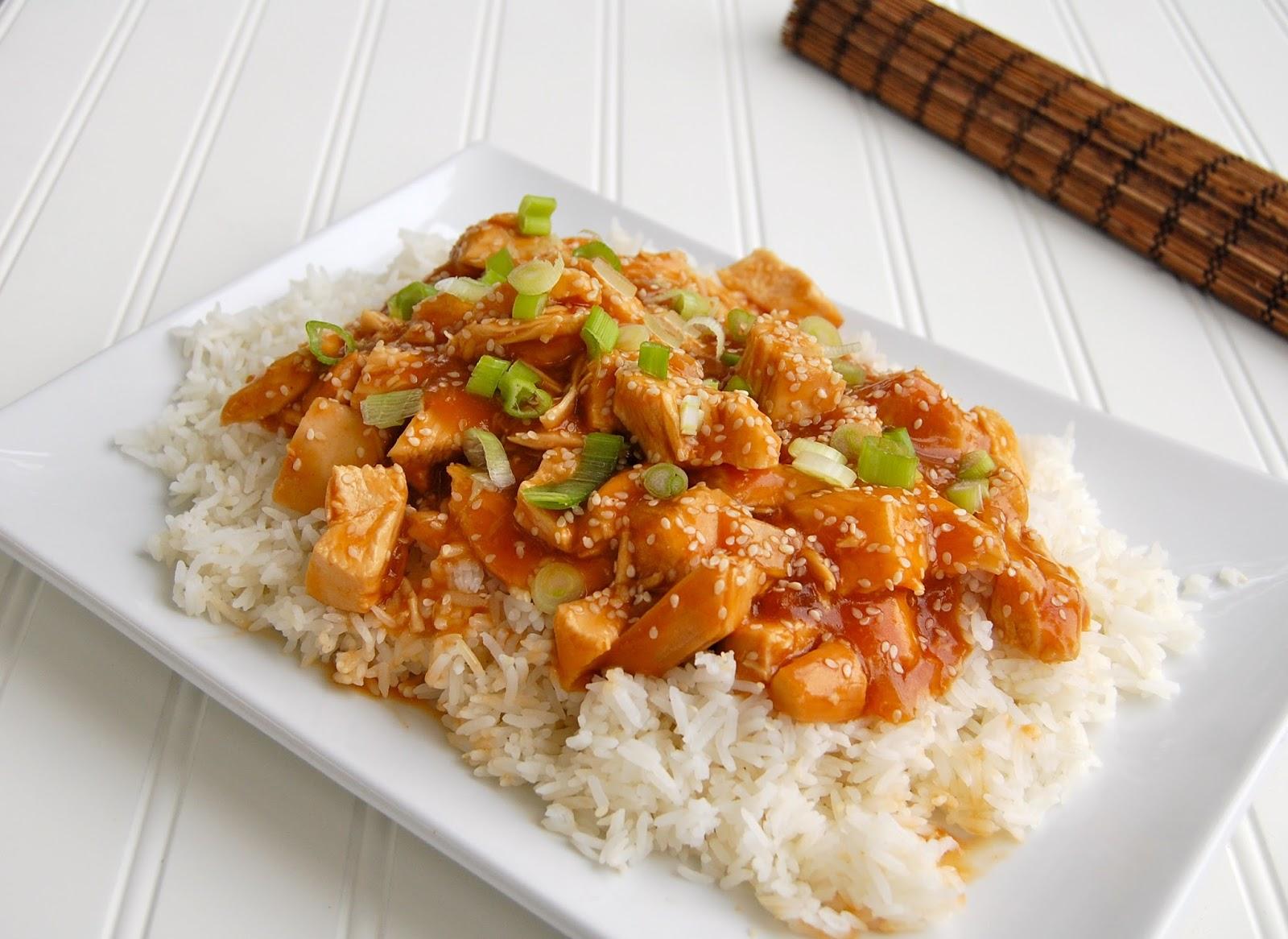 Crock Pot Honey Sesame Chicken | Swirl of Cinnamon