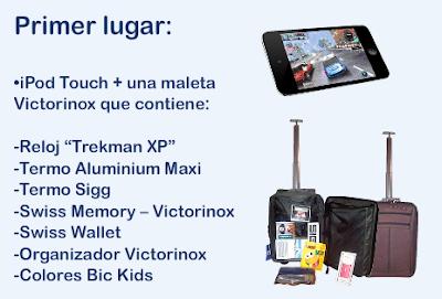 premios iPod Touch + una maleta Victorinox promocion conagua Mexico 2011