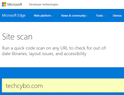 Microsoft site scan