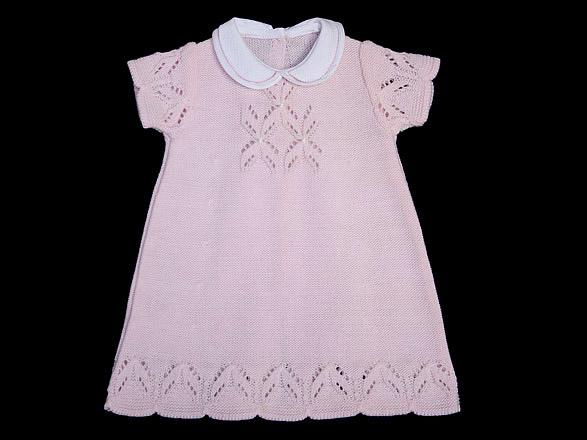 El jardín de Lulú: Vestidos bebé en punto