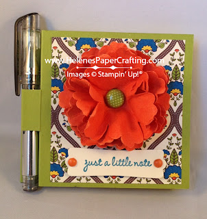 Orange Flower Post It Note Holder