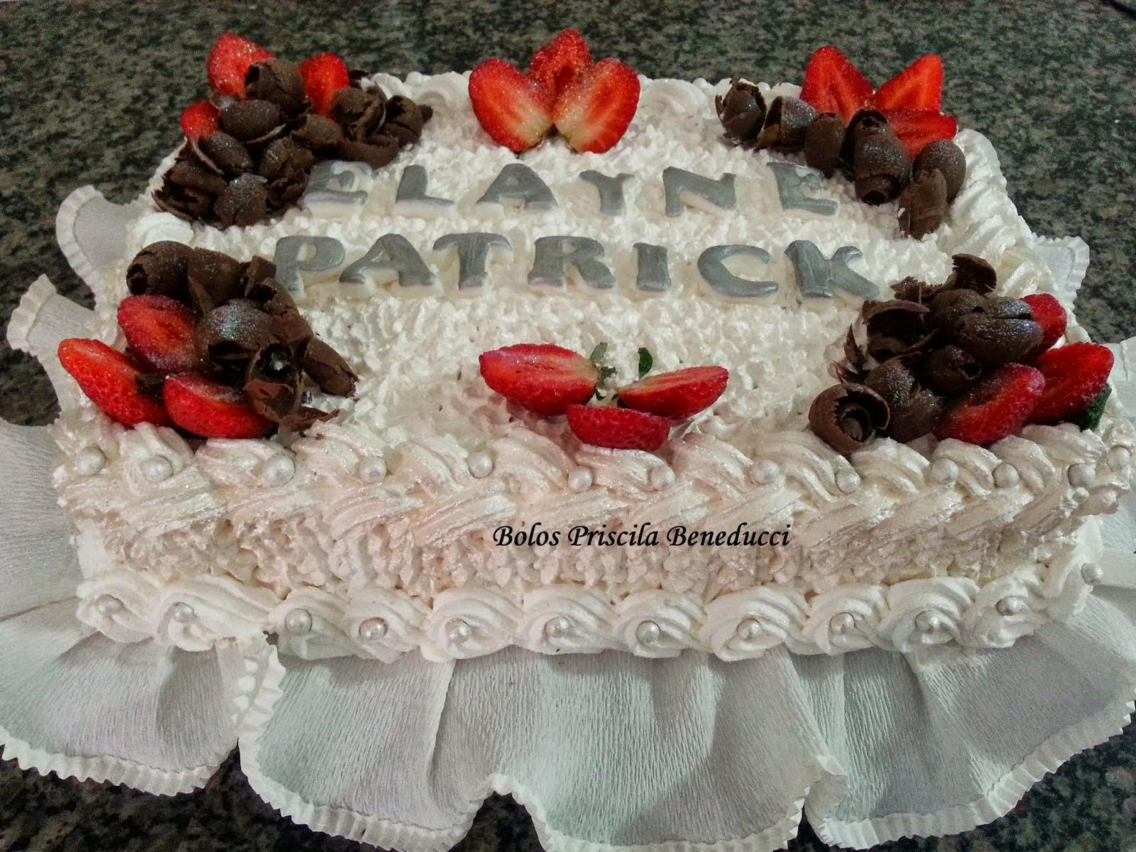 Torta Bolo de Morangos