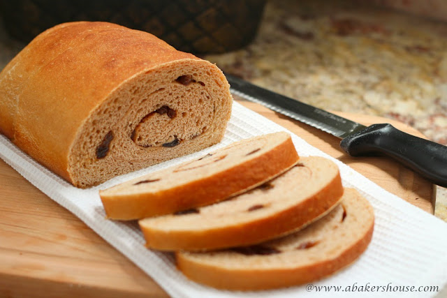 Whole Wheat Raisin Bread from www.abakershouse.com
