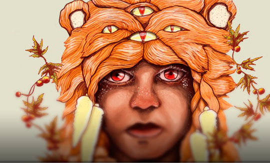 Ilustración, Hunt the myth de Fabio Parra aka Bafio
