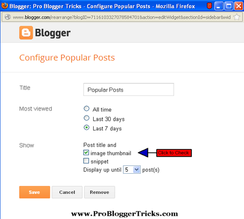 Stylish Popular Post Widget With Round Thumbnail in Blogger