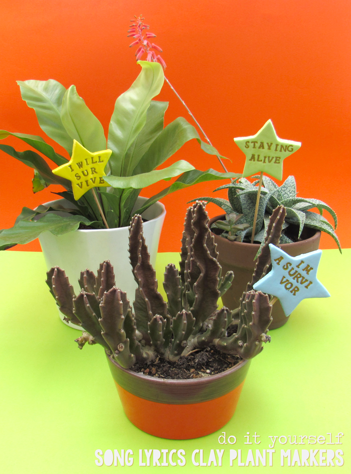 La lil with your own hands song lyrics clay plant markers spring diy do it yourself crafts crafty handcrafted plants succulents solutioingenieria Choice Image