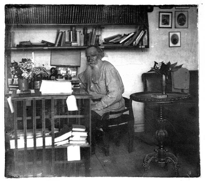 Tolstoy in his study