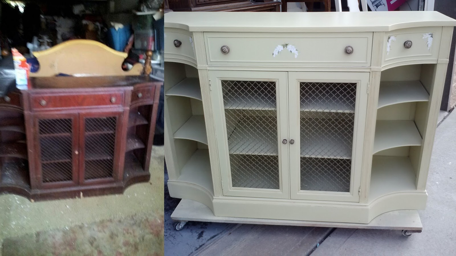 Vintage Server Turned Into Tv Console