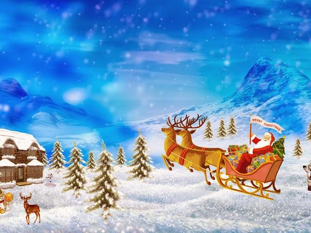 Merry Christmas Santa Claus Wallpaper