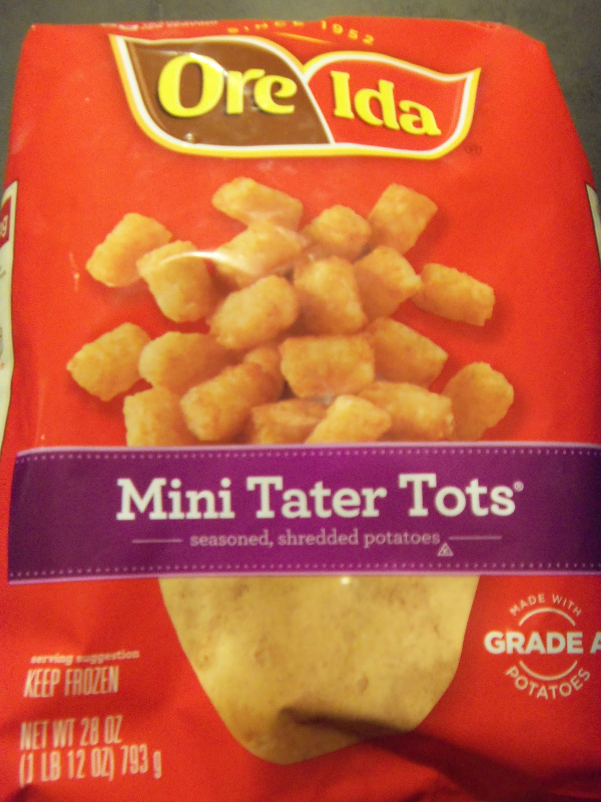 ... WINCO the other day!! MINI Tater Tots!! Wha??? Yeah. They're awesome