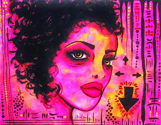 Girl in pink - Art by Bebee pino