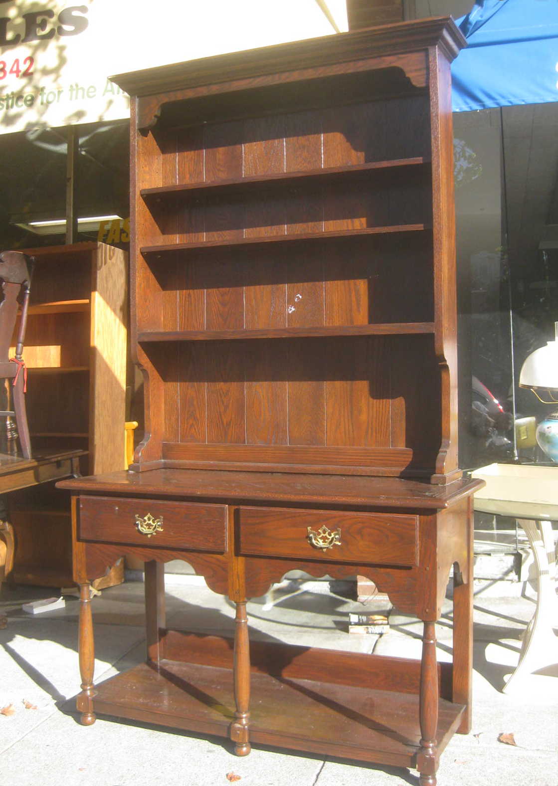 UHURU FURNITURE & COLLECTIBLES SOLD Pine China Hutch $225
