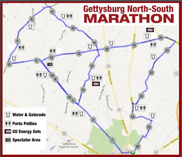 Gettysburg Marathon Course