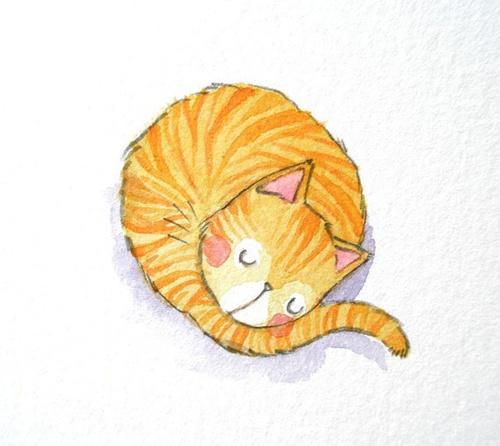 可愛貓咪插畫