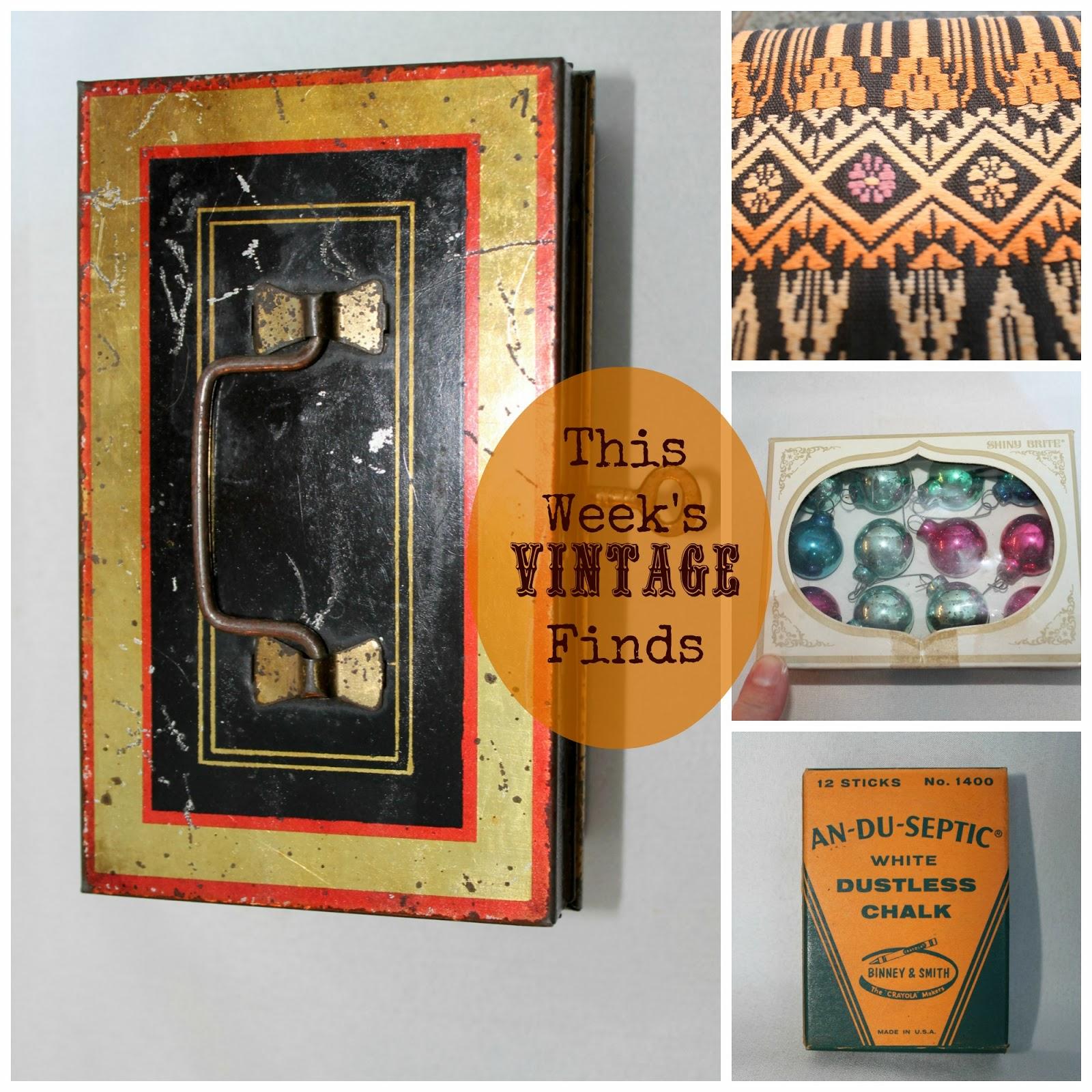 vintage, cash box, vintage textile, mini shiny brites
