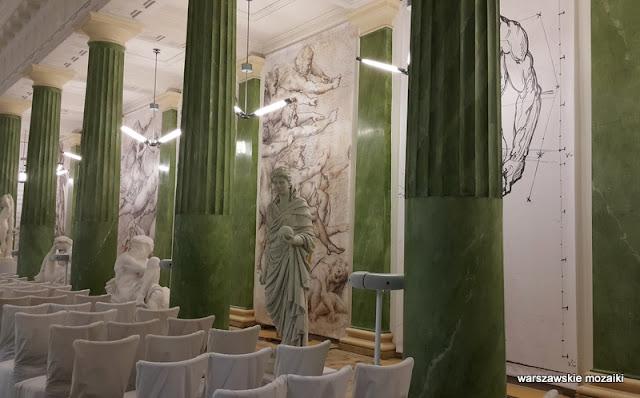 Warszawa Krakowskie Przedmieście odlewy gipsowe Uniwersytet Warszawski Instytut Historii Michał Kado