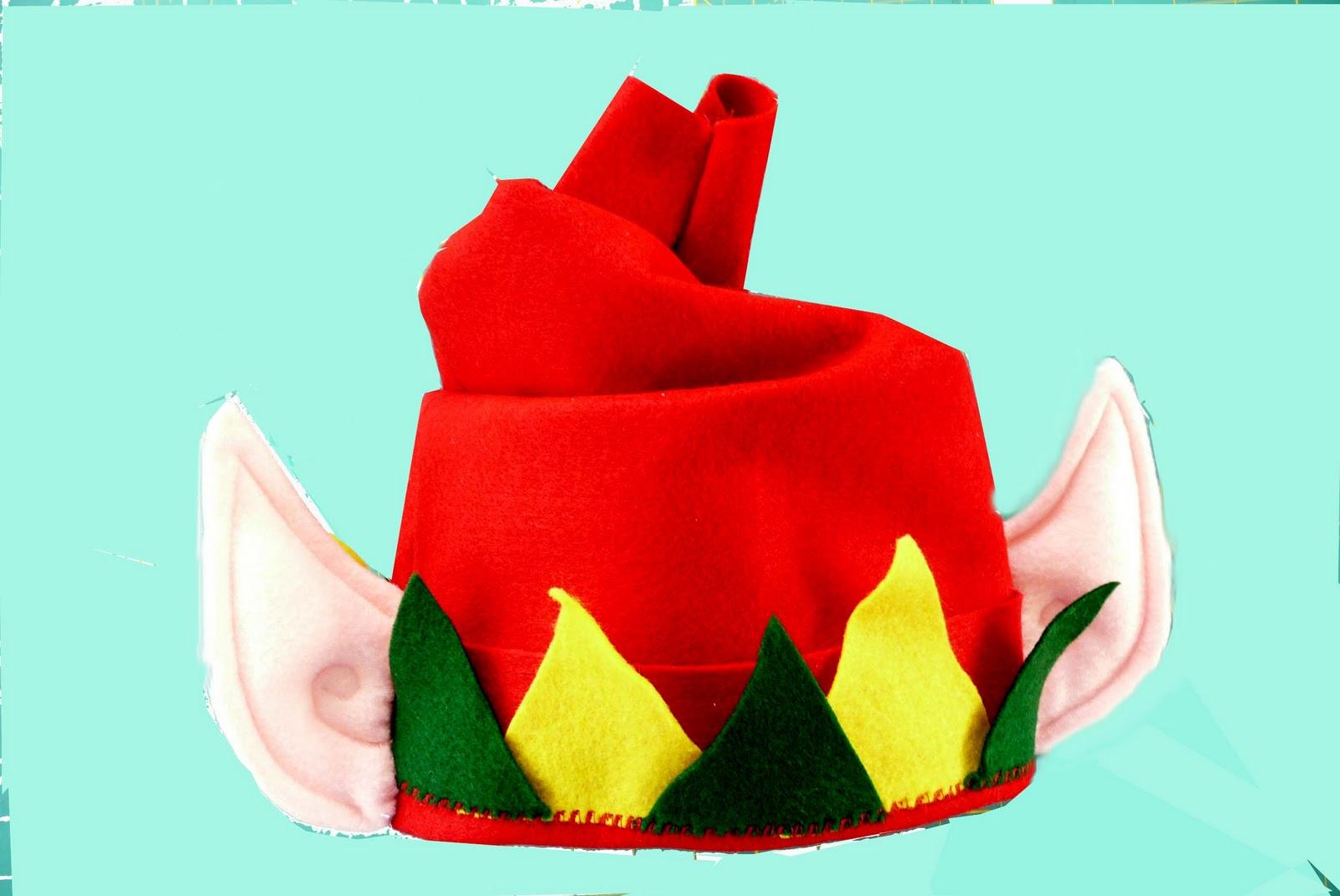 Elf Hat Template http://lindasartquilts.blogspot.com/2011/12/elf ...
