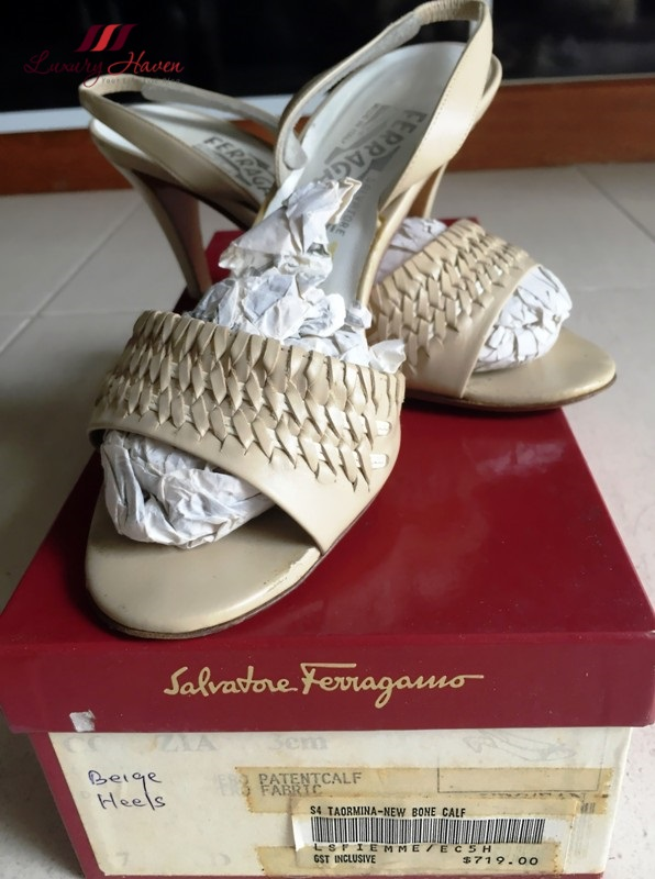 salvatore ferragamo taormina new bone calf slingbacks