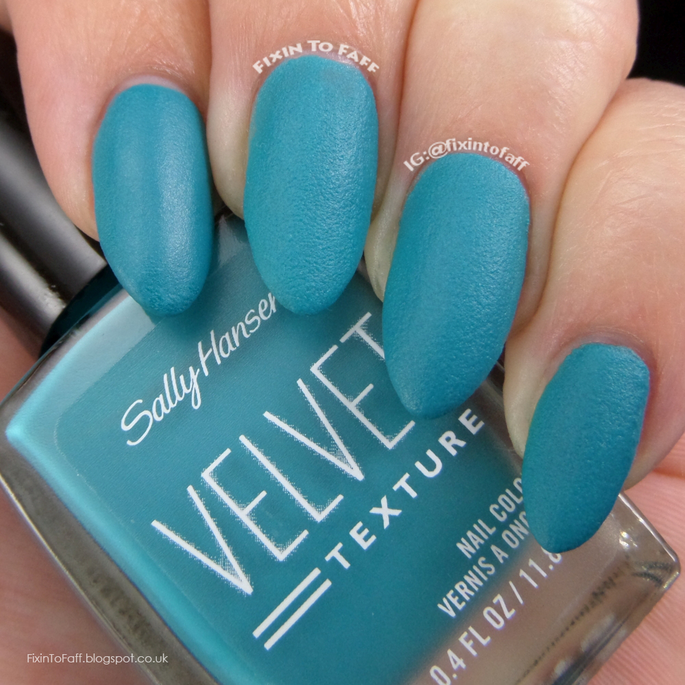 Swatch and review of Sally Hansen Velvet Texture Plush.
