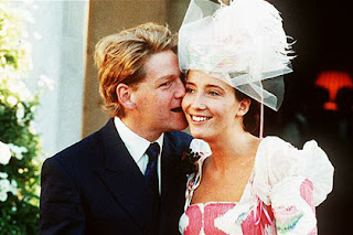 Emma Thompson and Kenneth Branagh on their wedding day in 1989.