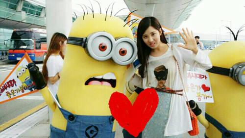 (CAP+MENSAJE) De ida a Taiwan! ♥  Seohyun+minion