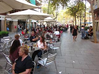 La Rambla del Poblenou in Barcelona