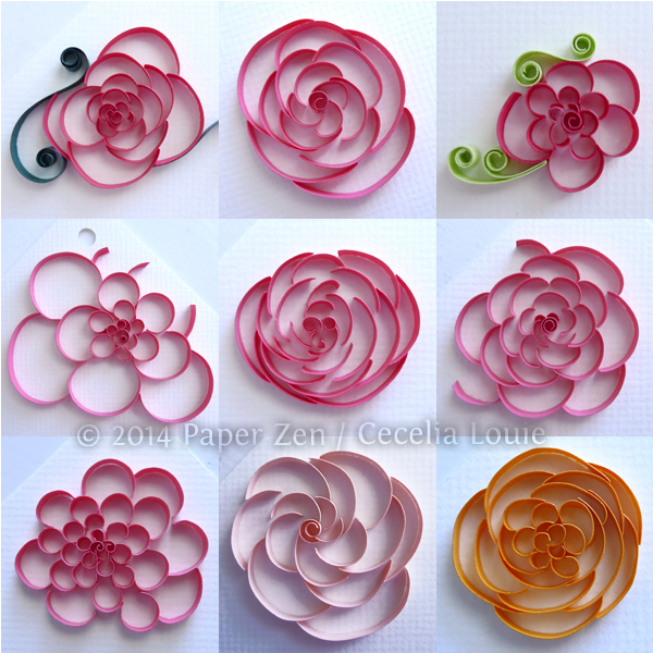 Paper zen cut coil quilling for rounded flowers cut coil quilling for rounded flowers mightylinksfo