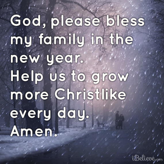 God, Please bless My Family in new year. Help us to Grow more ...