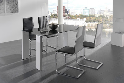 El blog de casa nueva mesas de comedor en cristal for Mesas comedor cristal y acero
