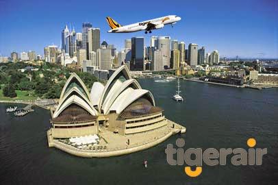 Vé máy bay Tiger Airways đi Úc giá rẻ