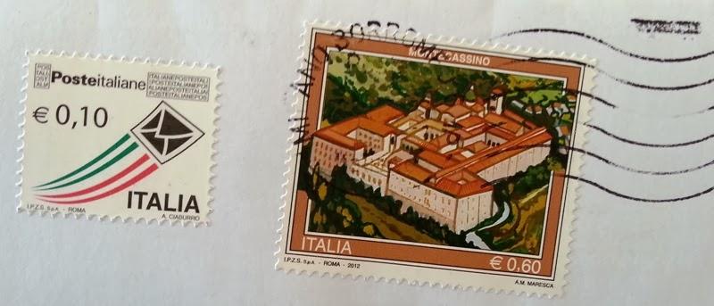 il francobollo Montecassino