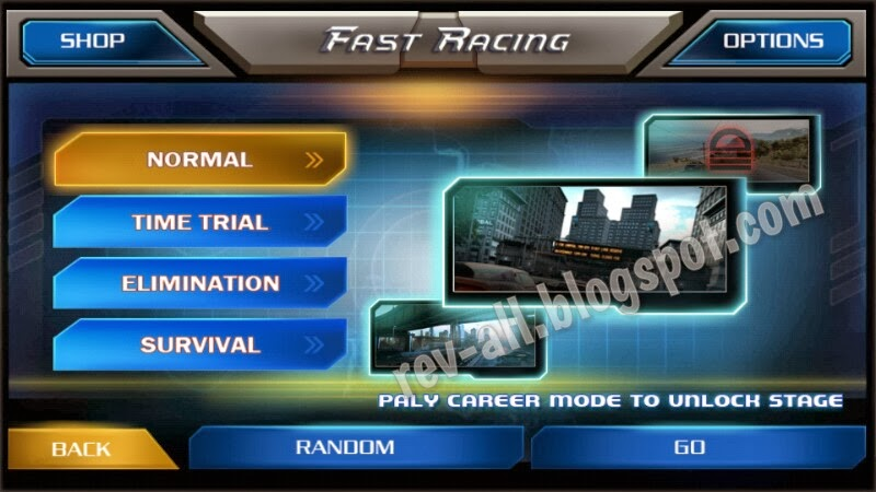 Mode Permainan Fast Racing 3D (rev-all.blogspot.com)