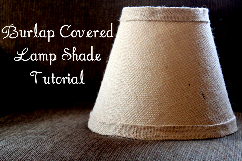 Burlap covered lamp shade tutorial the cottage mama burlap covered lamp shade tutorial mozeypictures Image collections