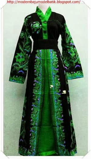 Model baju batik muslim wanita (+Terbaru)