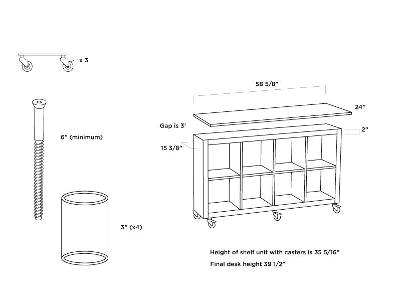 Ikea Hack Expedit Standing Desk Mighty Sparrow Design