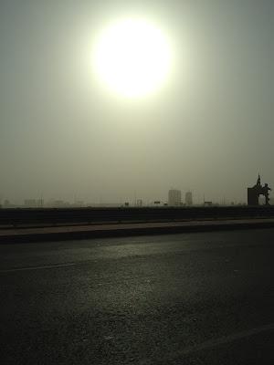 dust storm sandstorm in Jeddah Saudi Arabia blazing sun