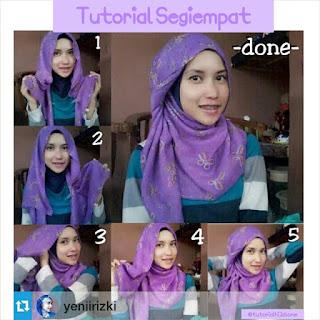 Tutorial Hijab Segi Empat Yang Simpel dan Praktis