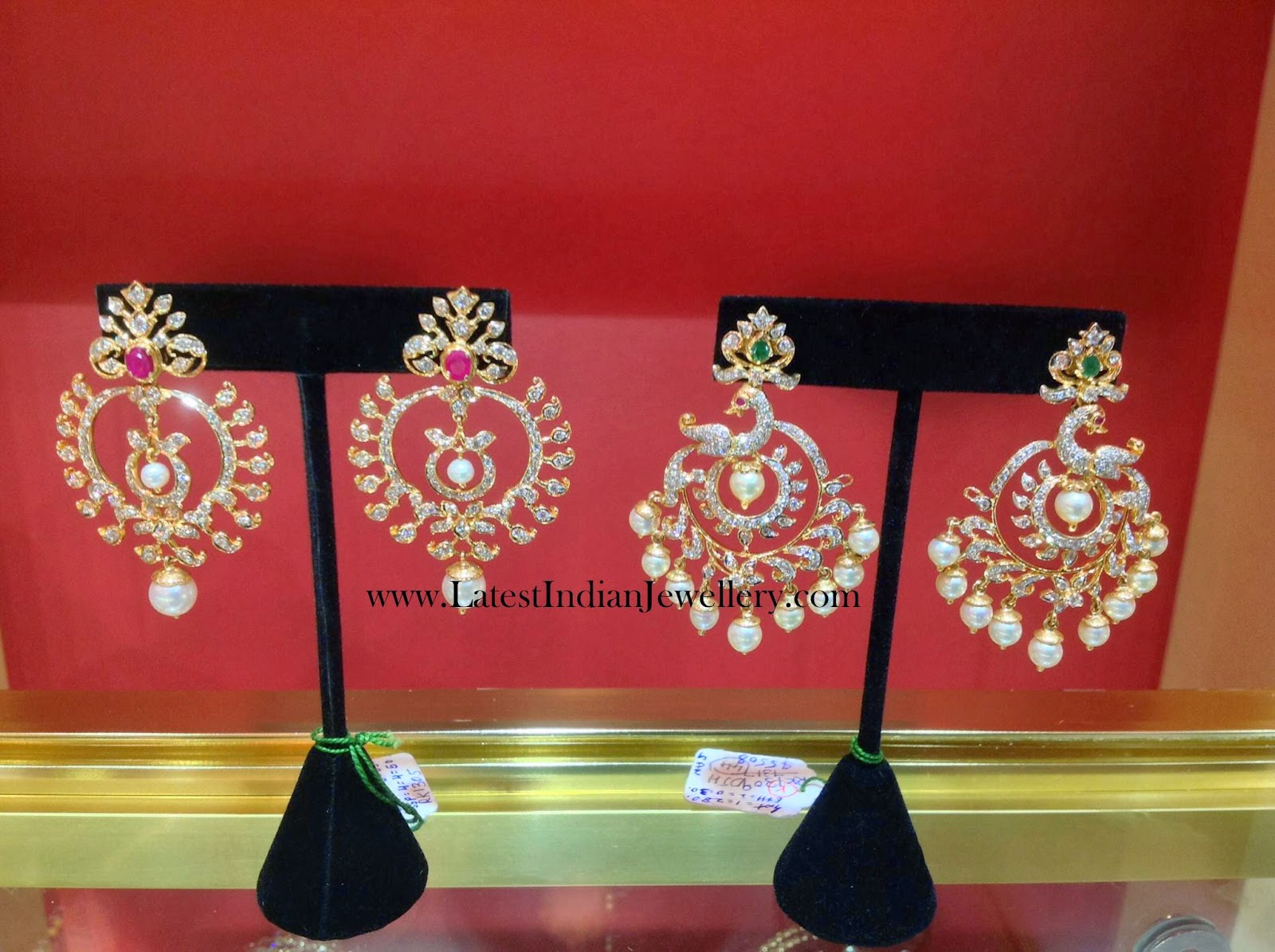 Diamond Chandbali Earring Designs