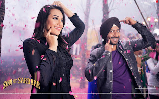 Son Of Sardaar HD Wallpaper Starring Ajay Devgn, Sonakshi Sinha